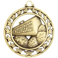 "2-1/2"" Super Star Cheerleader Medal SSM-10"
