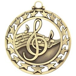 "2-1/2"" Super Star Music Medal SSM-20"