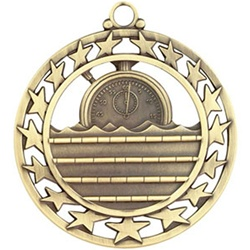 "2-1/2"" Super Star Swimming Medal SSM-31"