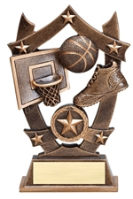 "6-1/4"" Sport Stars Basketball Trophy"