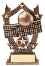 "6-1/4"" Sport Stars Volleyball Trophy"
