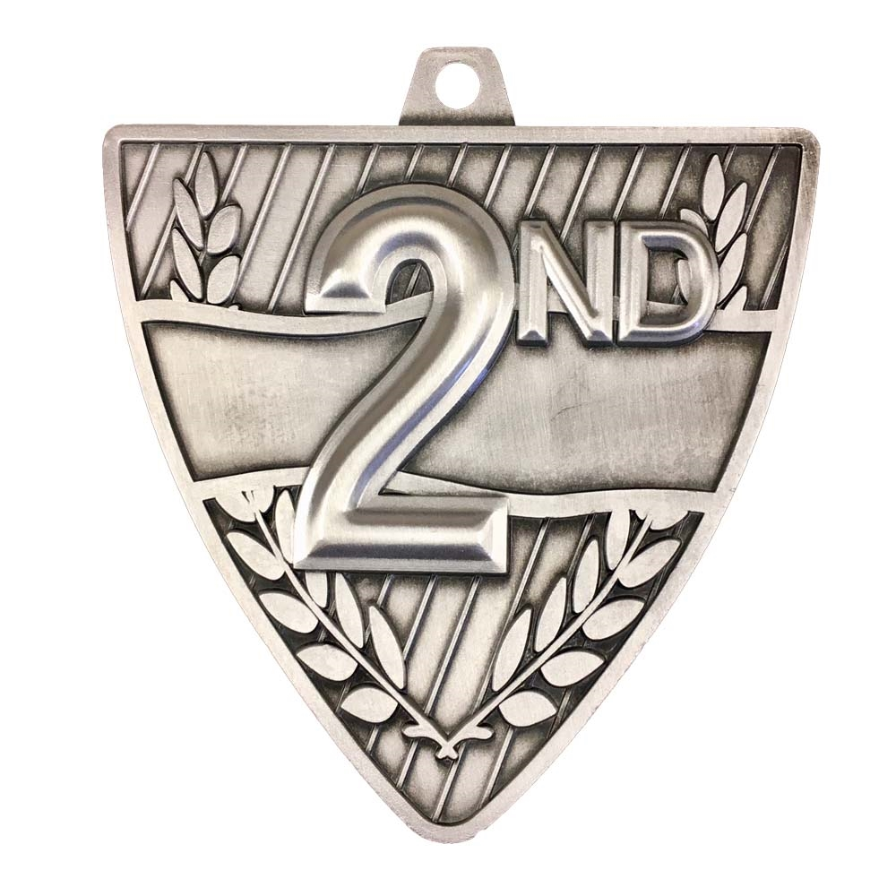 "2-1/2"" Shield 2nd Place Medal"
