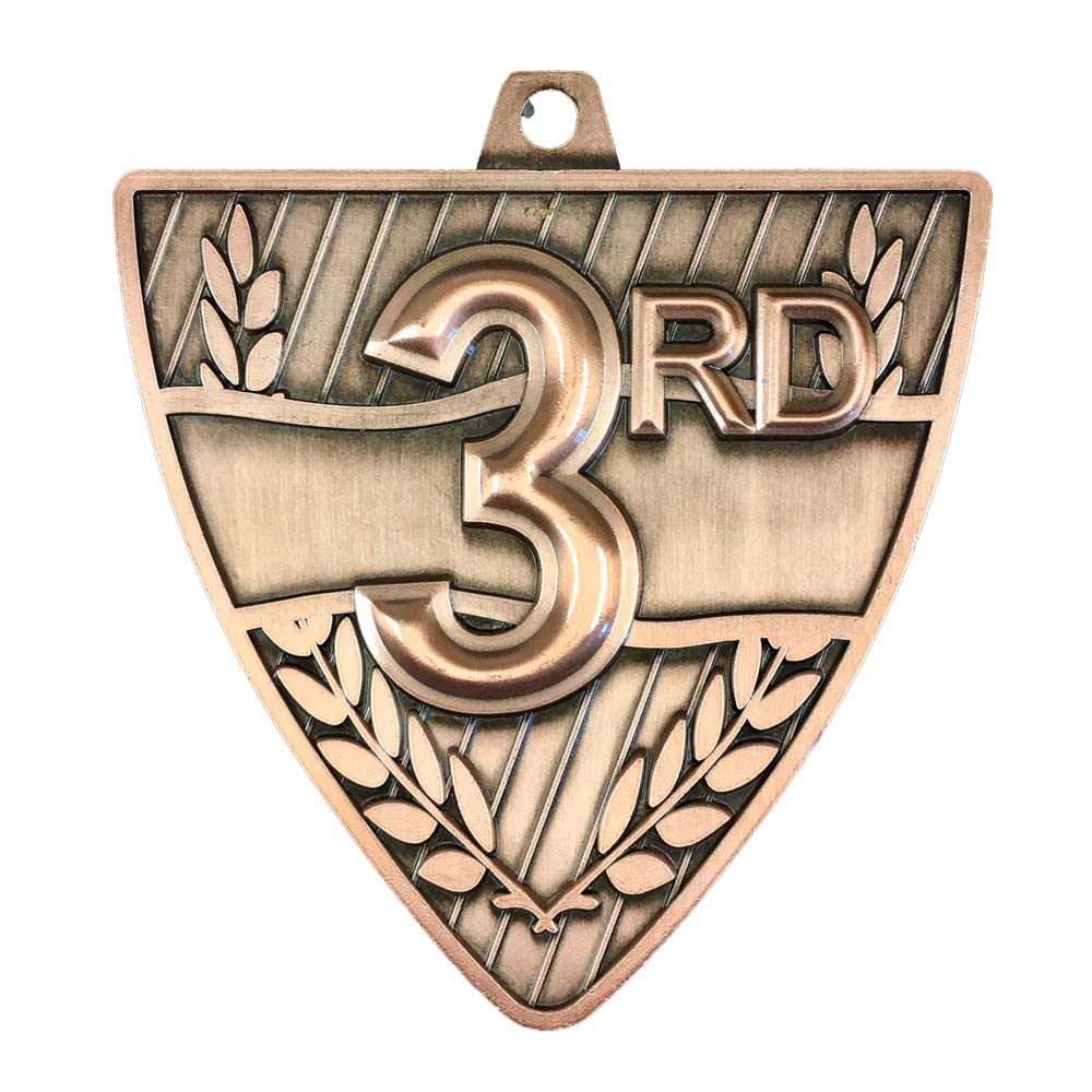 "2-1/2"" Shield 3rd Place Medal"
