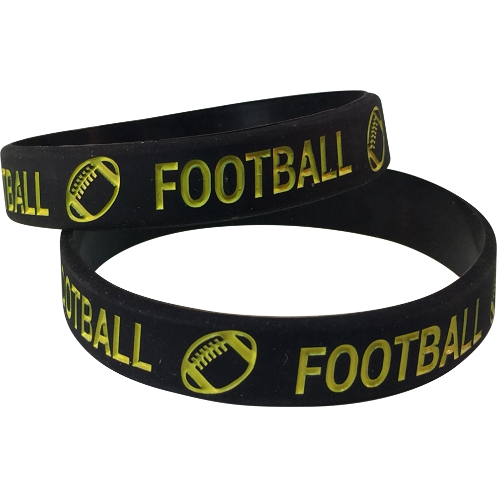 Silicone Football Wrist Band