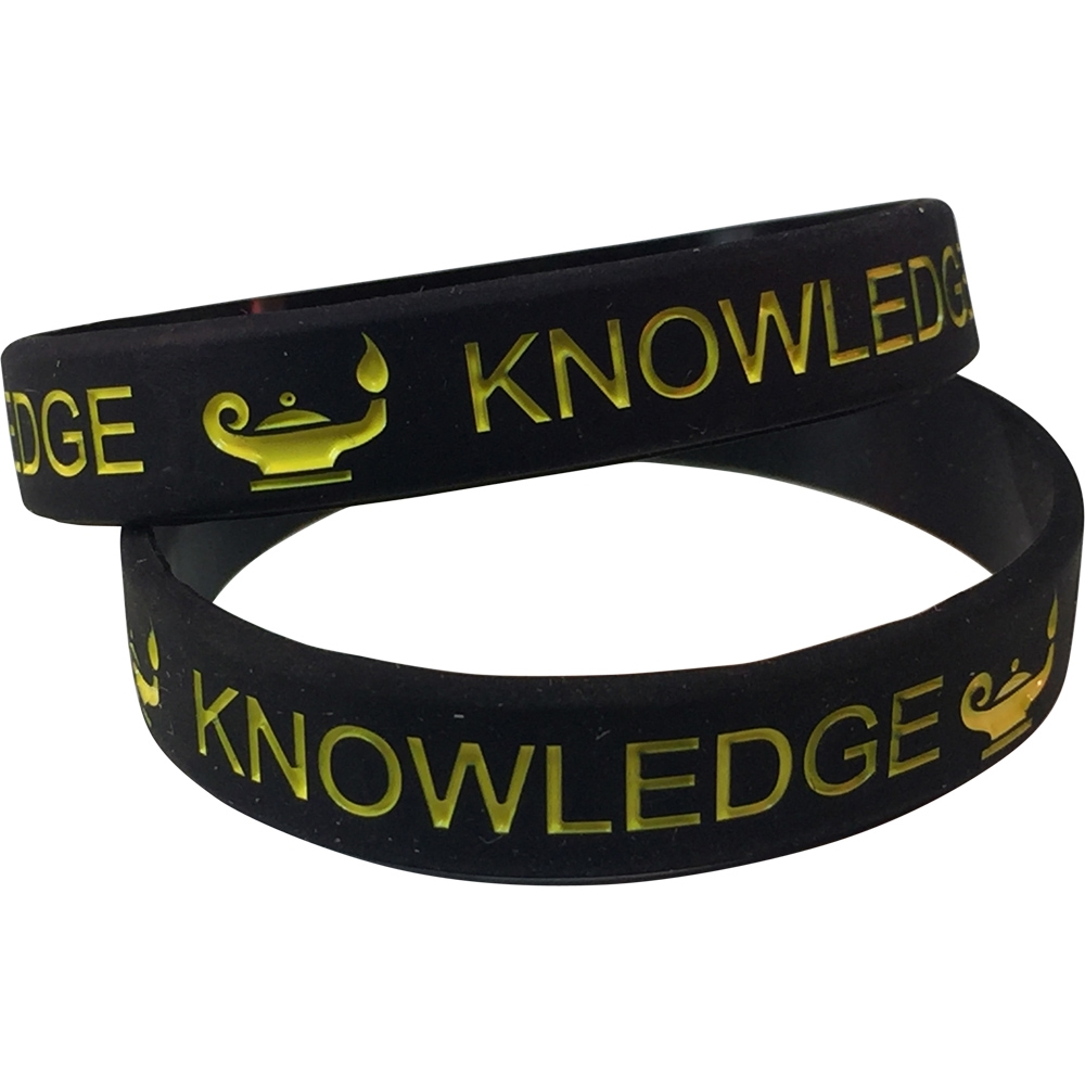 Silicone Lamp of Knowledge Wrist Band