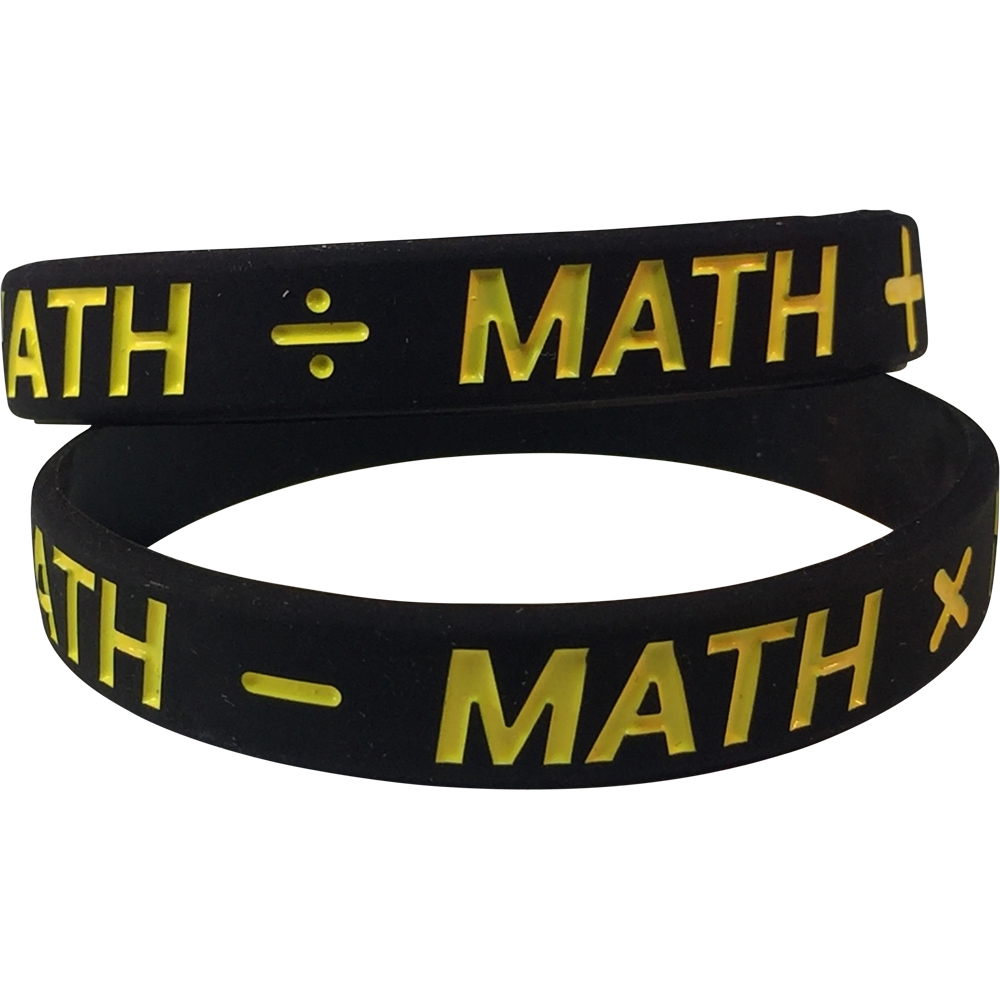 Silicone Math Wrist Band
