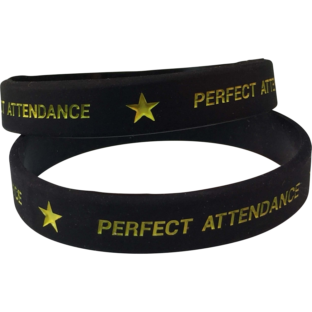 Silicone Perfect Attendance Wrist Band