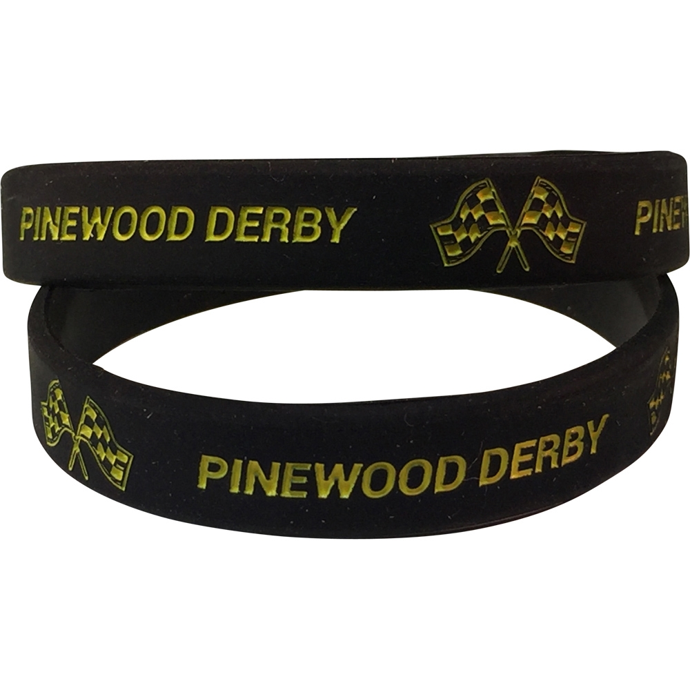 Silicone Pinewood Derby Wrist Band
