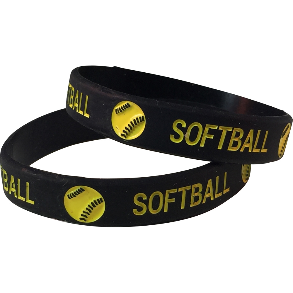 Silicone Softball Wrist Band