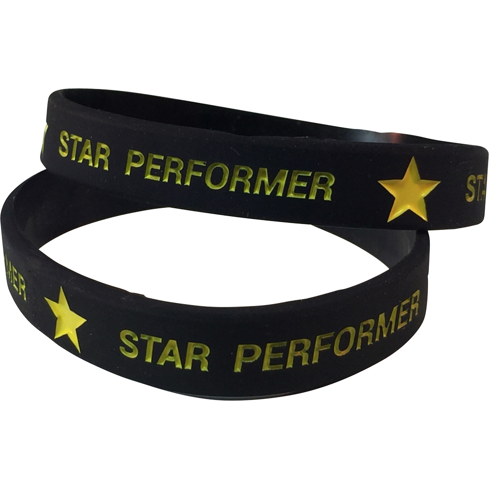 Silicone Star Performer Wrist Band