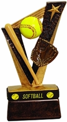 "6-1/2"" Softball Trophybands Resin"