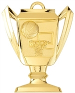 "2-3/4"" Trophy Basketball Medal TM03"