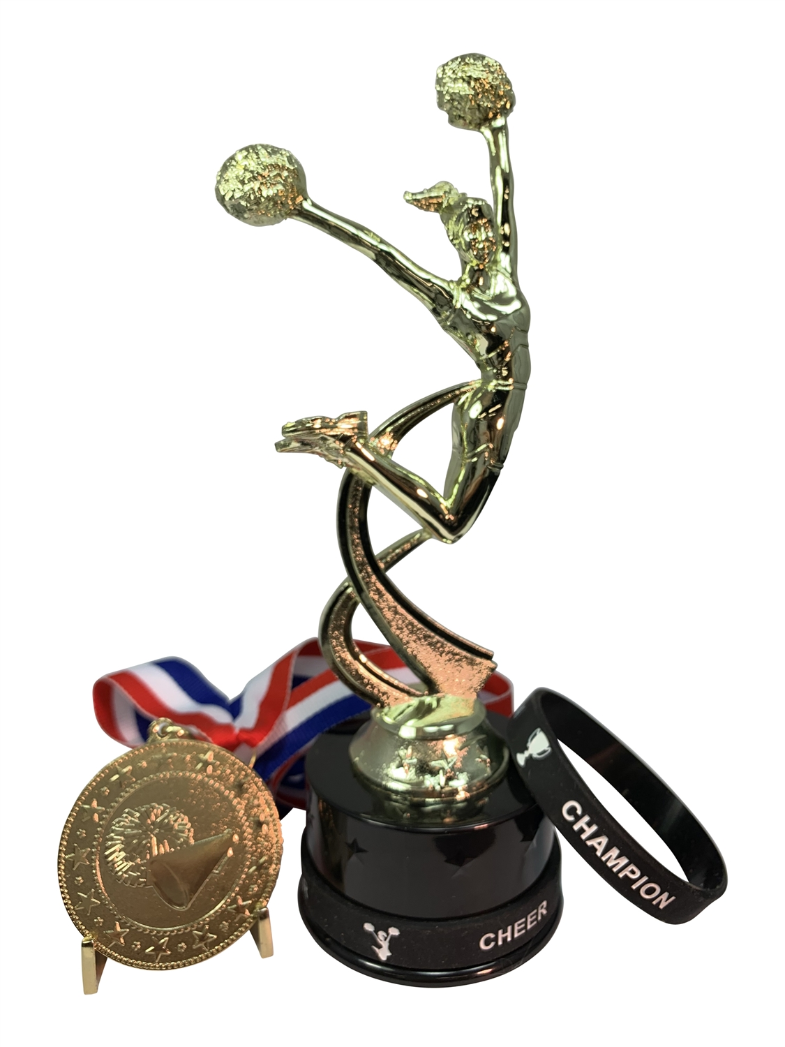 Cheerleading Poms Champion Trophy Pack