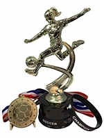 Girls Soccer Champion Trophy Pack