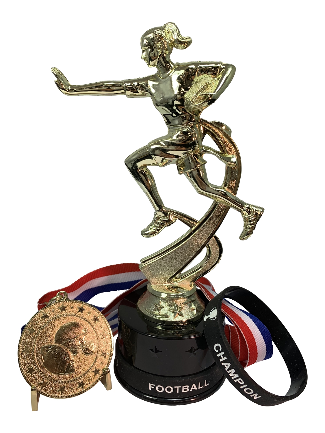 Girls Flag Football Champion Trophy Pack