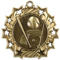 "2-1/4"" Ten Star Baseball Medal TS401"