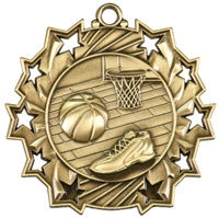 "2-1/4"" Ten Star Basketball Medal TS402"