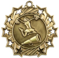 "2-1/4"" Ten Star Cheerleading Medal TS404"