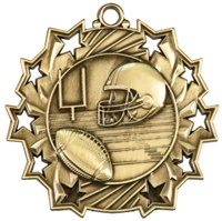 "2-1/4"" Ten Star Football Medal TS405"