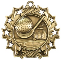"2-1/4"" Ten Star Golf Medal TS406"