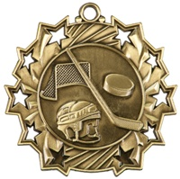 "2-1/4"" Ten Star Hockey Medal TS408"