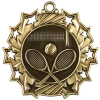 "2-1/4"" Ten Star Tennis Medal TS413"