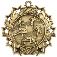 "2-1/4"" Ten Star Track & Field Medal TS415"