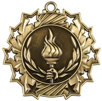 "2-1/4"" Ten Star Victory Medal TS416"