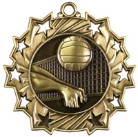 "2-1/4"" Ten Star Volleyball Medal TS417"