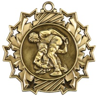 "2-1/4"" Ten Star Wrestling Medal TS418"