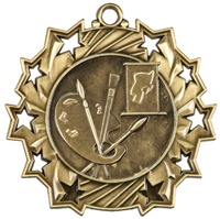 "2-1/4"" Ten Star Art Medal TS501"