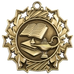 "2-1/4"" Ten Star Lamp of Knowledge Medal TS506"