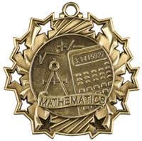 "2-1/4"" Ten Star Math Medal TS507"
