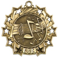 "2-1/4"" Ten Star Music Medal TS508"