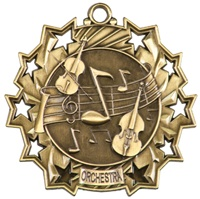 "2-1/4"" Ten Star Orchestra Medal TS509"