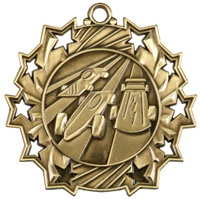 "2-1/4"" Ten Star Pinewood Derby Medal TS512"
