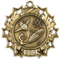 "2-1/4"" Ten Star Science Medal TS515"