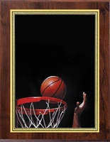 "5"" x 7"" Hi-Def Basketball Plaque VL68-ZA46BSKL"