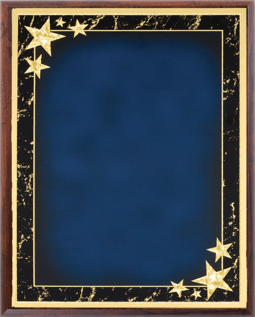 6x8 Plaque - Blue Red or Black Star Plates