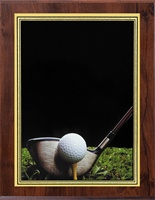 "7"" x 9"" Hi-Def Golf Plaque VL810-ZA79GOLF"