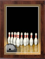 "8"" x 10"" Full Color Bowling Plaque VL810-MP308C"