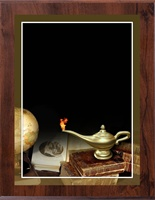 "8"" x 10"" Full Color Book & Lamp Plaque VL810-MP312C"