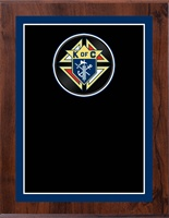 "8"" x 10"" Full Color Knights of Columbus Plaque VL810-MP325C"