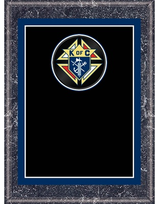 8 X 10 Knights Of Columbus Plaque Wood Knights Of