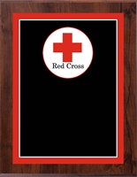 "8"" x 10"" Full Color Red Cross Plaque VL810-MP328C"