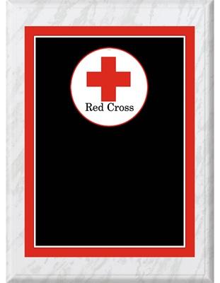 8 X 10 Red Cross Plaque Wood Red Cross Plaque Express
