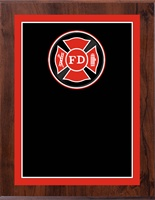 "8"" x 10"" Full Color Fire Department Plaque VL810-MP331C"