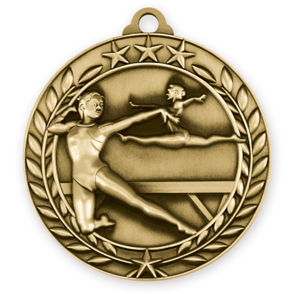 "2-3/4"" Female Gymnastics Medal"