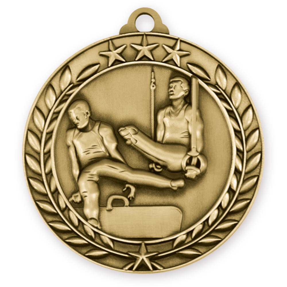 "2-3/4"" Male Gymnastics Medal"