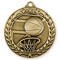 "1 3/4"" Basketball Medal"